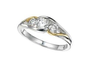 Buy Kiara THREE STONE AMERICAN Diamond Ring online