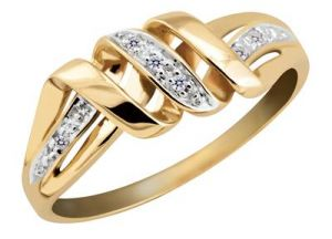 Buy Kiara SNAKE Shape AMERICAN Diamond Ring online