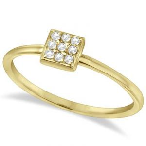 Buy Kiara SQUARE Shape AMERICAN Diamond Ring online