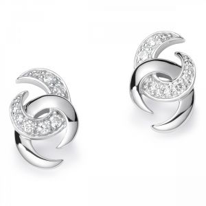 Buy Kiara Swarovski Elements White Gold Plated Earring online