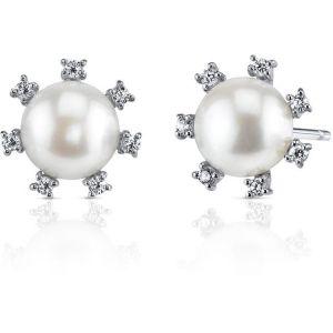 Buy Kiara Swarovski Signity Sterling Silver Kavya Earring online
