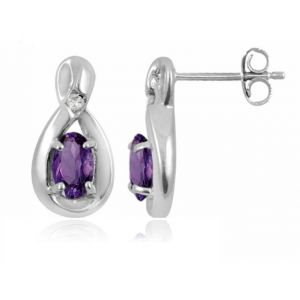 Buy Kiara Swarovski Signity Sterling Silver Anjali Earring online