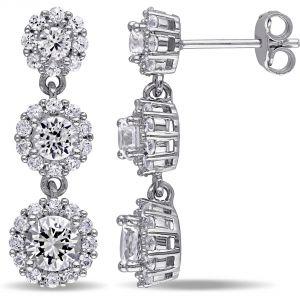 Buy Kiara Swarovski Signity Sterling Silver Sadhna Earring Kie0473 online