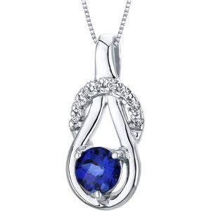 Buy Kiara Swarovski Signity Sterling Silver Shradha Pendant online