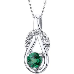 Buy Kiara Swarovski Signity Sterling Silver Priyanka Pendant online