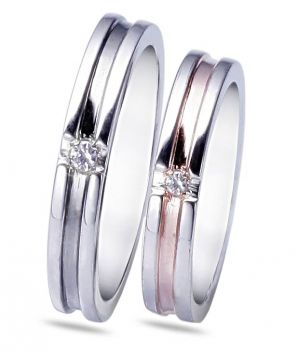 6957f849d57f Buy Kiara Jewellery Sterling Silver Swarovski Zirconia Couple Ring online
