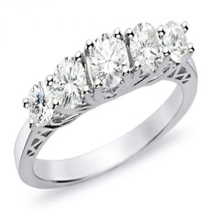 Buy Kiara Sterling Silver Ring Made With Swarovski Zirconia Kir0423 online