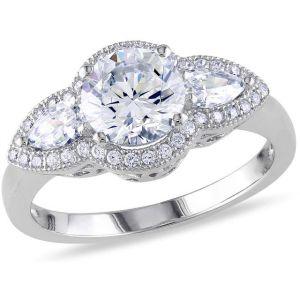 Buy Kiara Swarovski Signity Sterling Silver Krutika Ring online