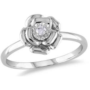 Buy Kiara Swarovski Signity Sterling Silver Tejal Ring online