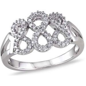 Buy Kiara Swarovski Signity Sterling Silver Pranali Ring online