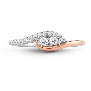 Buy Kiara Swarovski Signity Sterling Silver Radhika Ring online