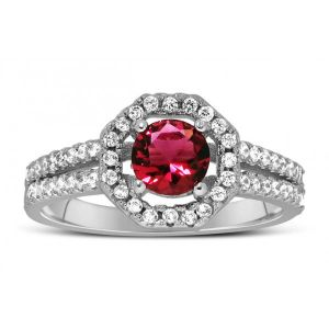 Buy Kiara Swarovski Signity Sterling Silver Kavya Ring online