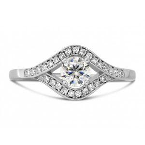 Buy Kiara Swarovski Signity Sterling Silver Tejashree Ring online