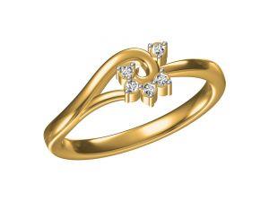 Buy Kiara Sterling Silver Veena Ring Mkr089y online