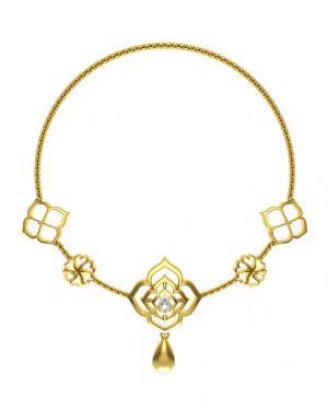 Buy Avsar Real Gold And Swarovski Stone Kajal Necklace15yb online