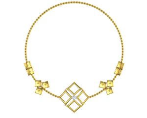Buy Avsar Real Gold and Swarovski Stone Vashi Necklace online