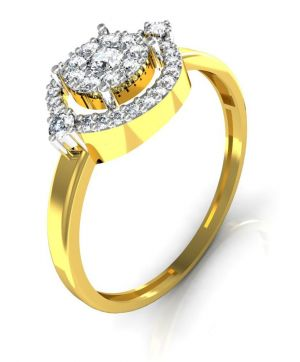 Buy Avsar Real Gold and Diamond Gujrat Ring online