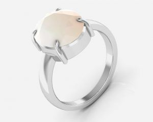 Buy Kiara Jewellery Certified Opal 6.5 cts or 7.25 ratti Opal Ring online