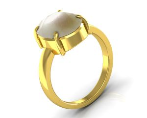 Buy Kiara Jewellery Certified Moti 3.0 cts or 3.25 ratti Pearl Ring online