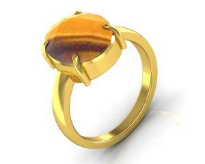 Buy Kiara Jewellery Certified Quartz 3.9 Cts Or 4.25 Ratti Quartz Ring online
