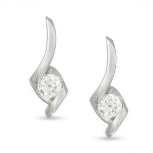 Buy Tarang Real Diamond Two Stone Fancy Earring # Tae016 online