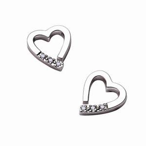 Buy Tarang Real Diamond Six Stone Heart Earring online