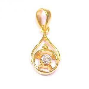 Buy Tarang Real Diamond Single Stone Fancy Pendant online