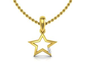 Buy Avsar Real Gold and Swarovski Stone Pranali Pendant online