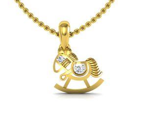 Buy Avsar Real Gold and Swarovski Stone Pooja Pendant online