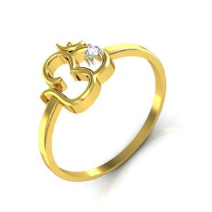Buy Avsar Real Gold and Swarovski Stone Shruti  Ring online