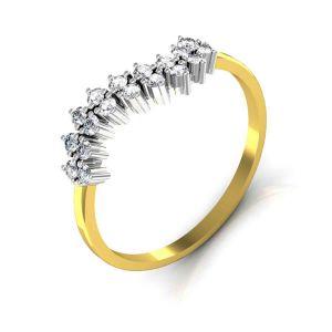 Buy Avsar Real Gold And Swarovski Stone Amrita Ring Tar029yb online