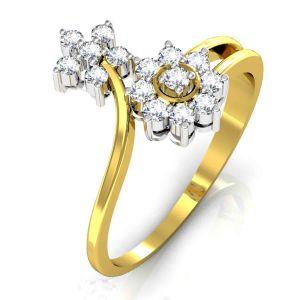 Buy Avsar Real Gold and Swarovski Stone Deepika Ring online