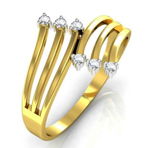 Buy Avsar Real Gold and Swarovski Stone Swapna Ring online