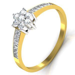 Buy Avsar Real Gold And Swarovski Stone Tamilnadu Ring Tar039yb online