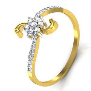 Buy Avsar Real Gold and Swarovski Stone Preeti Ring online