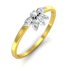Buy Avsar Real Gold and Swarovski Stone Gujrat Ring online