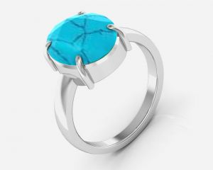 Buy Kiara Jewellery Certified Turquoise 7.5 cts or 8.25 ratti Turquoise Ring online