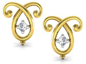 Buy Avsar Real Gold And Cubic Zirconia Stone Vaishali Earring( Code - Uqe018ybx ) online
