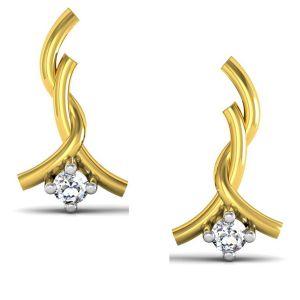 Buy Avsar Real Gold And Swarovski Stone Pooja Earring Uqe022yb online