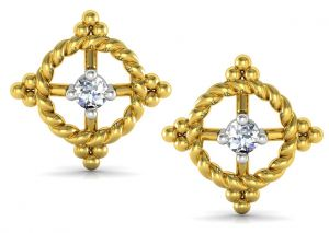 Buy Avsar Real Gold and Swarovski Stone Anjali Earring online