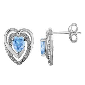 Buy Kiara Sterling Silver Earring Made With Swarovski Zirconia Vae005 online
