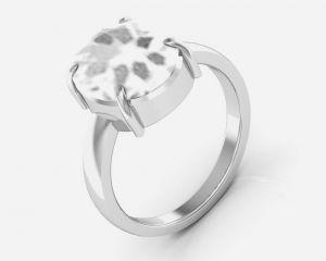 Buy Kiara Jewellery Certified White Topaz 9.3 Cts Or 10.25 Ratti White Topaz Ri online