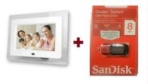 Buy 7 Inch HD Digital Photo Frame With 8GB Pen Drive online