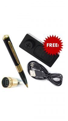 Buy Spy Pen Camera With Spy Button Camera Free online