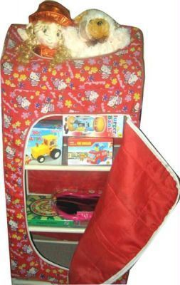 Buy Multipurpose Cloth Almirah 4 Shelves Cupboard Wardrobe Specially Kids Room online