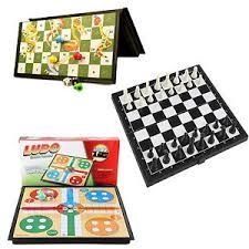 Buy Enjoy Indoor 3 In 1 Ludo, Chess With Snakes And Ladders Games online