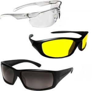 Buy D&y Day-night Vision Driving Plus Summer Special Pack Of 3 Bike/car Goggles online