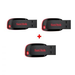 Pay Rs 749 for Pack 3 of Sandisk Cruzer Blade 8 GB Pendrive