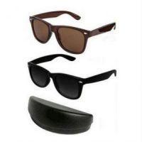 Buy Buy 1 Get 1 Wayfarer Sunglasses - Black & Brown online