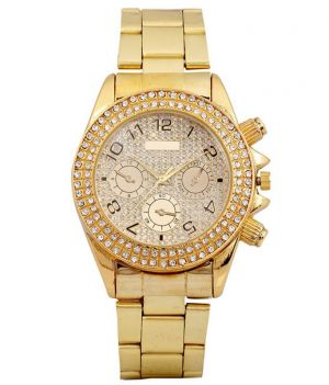 Buy New Golden Analog Super Stylish Wrist Watch For Mens Womens online